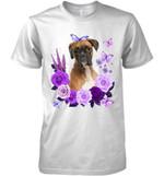 Boxer Purple Flower T Shirt Hoodie Sweater