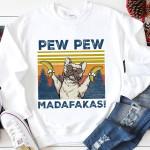 Bulldog Hold Bananas Pew Pew Madafakas Tshirt Tshirt Hoodie Sweater