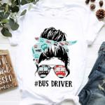 Bus Driver Girl Wear Sunglasses T Shirt Hoodie Sweater