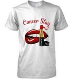 Cancer Slay Lipstick Diamond Lips T Shirt Hoodie Sweater