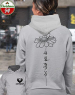 Caregiver Love What You Do Daisy Flowers Hoodie