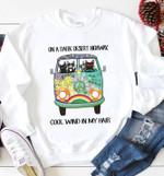 Cat Hippie On A Dark Desert Highway Cool Wind In My Hair Peace Car T Shirt Hoodie Sweater