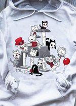 Cat Horror Characters Jigsaw Pennywise Freddy Krueger Jason Voorhees Michael Myers Leatherface For Halloween Fan T Shirt Hoodie 1 Sweater