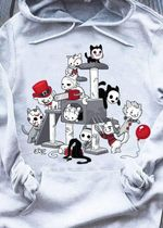 Cat Horror Characters Jigsaw Pennywise Freddy Krueger Jason Voorhees Michael Myers Leatherface For Halloween Fan T Shirt Hoodie 2 Sweater
