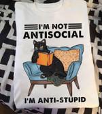 Cat I M Not Antisocial I M Anti Stupid T Shirt Hoodie Sweater