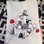 Cat Jason Voorhees Freddy Krueger Jigsaw Leatherface Pennywise Horror Halloween For Fan T Shirt Hoodie Sweater