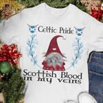 Celtic Pride Sottish Blood In My Veins Dwarf Birthday Gift Tshirt Hoodie Sweater