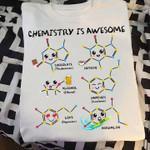 Chemistry Is Awesome Chocolate Caffeine Alcohol Tshirt