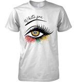 Chicago White Sox Glitter Parttern Eye Printed T Shirt Hoodie Sweater