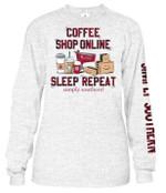 Coffee Shop Online Sleep Repeat Sweater