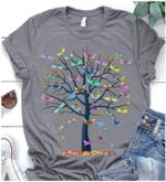 Colorful Dragonflies Tree T Shirt