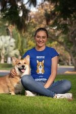 Corgi Bestie Since Adopted For Dog Lover T Shirt Hoodie Sweater