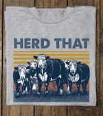 Cows Herd That Vintage Retro For Farmers And Cow Lovers