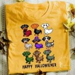 Dachshund Disguise Happy Halloween T Shirt Hoodie Sweater