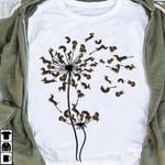 Dachshund Dog On A Dandelion Flower Shape For Dog Lover T Shirt Hoodie Sweater