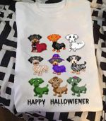 Dachshund Happy Hallowieneer Halloween For Dog Lover T Shirt Hoodie Sweater