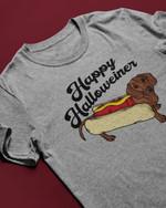 Dachshund Hot Dog Happy Halloweiner T Shirt Hoodie Sweater