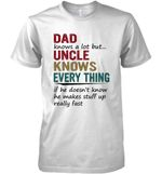 Dad Knows A Lot But Uncle Knows Everything T Shirt Hoodie Sweater