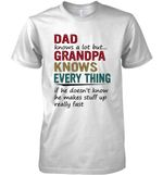 Dad Knows A Lot But Grandpa Knows Everything T Shirt Hoodie Sweater