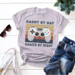 Daddy By Day Gamer By Night Father S Day Gift Retro