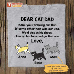 Dear Cat Dad Thank You For Being Our Dad Fathers Day Gift For Cats Lover