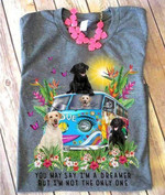 Dog Hippie You May Say I M A Dreamer But I M Not The Only One T Shirt Hoodie Sweater
