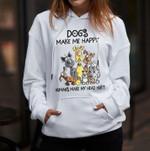Dogs Make Me Happy Humans Make My Head Hurt Dog Lovers T Shirt Hoodie Sweater