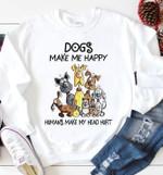 Dogs Make Me Happy Humans Make My Head Hurt Tshirt T Shirt Hoodie Sweater