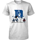 Duke Blue Devils Snoopy And Friends Peanut Fan T Shirt Hoodie Sweater
