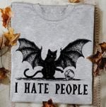 Evil Black Cat I Hate People T Shirt Hoodie Sweater