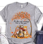 Fall Cat It S The Most Wonderful Time Of The Year T Shirt Hoodie Sweater