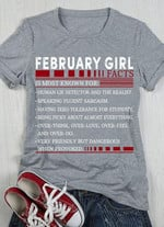 February Girl Facts Is Most Known For Human Lie Detector And The Realist T Shirt Hoodie Sweater Sweater