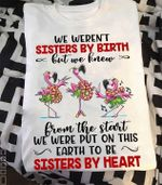 Flamingo We Weren T Sisters By Birth But We Knew From The Start We Were Put On Earth To Be Sisters By Heart T Shirt Hoodie Sweater