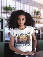 Freeish Since 1865 Black Pride African Retro T Shirt