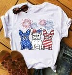 French Bulldog Independence Day Firework For Lovers T Shirt