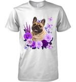 French Bulldog Purple Flower T Shirt Hoodie Sweater