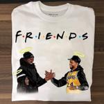 Friends Kobe Bryant And Chadwick Boseman Meet In Heaven For Fan T Shirt Hoodie Sweater
