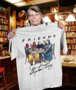 Friends Stephen King Horror Characters Pennywise Misery Carrie The Shining Sit Together In Table Signed For Fan T Shirt Hoodie 6 Sweater