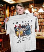Friends Stephen King Horror Characters Pennywise Misery Carrie The Shining Together In Table Signed For Fan T Shirt Hoodie Sweater