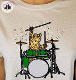 Funny Cat Playing Drums For Cats Music Lover