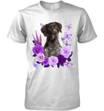 German Short Haired Purple Flower T Shirt Hoodie Sweater