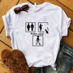 Girl With Dog Problem Solved Funny Illustration For Dog Lover T Shirt Hoodie Sweater