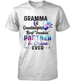 Gramma Granddaughter Best Freakin Partner In Crime Ever Galaxy Color T Shirt Hoodie Sweater