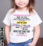 Granddaughter Inside This Shirt Is A Pice Of My Heart To Bring You Comfort While We Are Apart