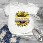 Grandma Sunflower Customizable Grandkids Name T Shirt Hoodie Sweater