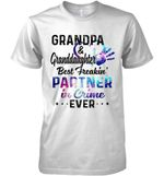 Grandpa Granddaughter Best Freakin Partner In Crime Ever Funny Galaxy Color Style T Shirt Hoodie Sweater