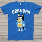Grandpa Bluey Heeler For Lovers Grandfather T Shirt Hoodie Sweater