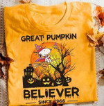 Great Pumpkin Believer Since 1966 Snoopy Witch Halloween T Shirt Hoodie Sweater