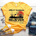 Great Pumpkin Believer Snoopy Since 1966 Charles M Schulz Signed Halloween Witch For Fan T Shirt Hoodie Sweater