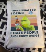 Grinch That S What I Do I Drink Blue Moon I Hate People And I Know Things Vintage T Shirt Hoodie Sweater